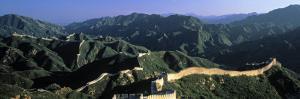 Panoramic View of Great Wall of China, Badaling, China by James Montgomery Flagg