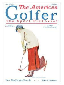 The American Golfer July 25, 1925 by James Montgomery Flagg