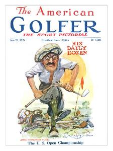 The American Golfer June 28, 1924 by James Montgomery Flagg