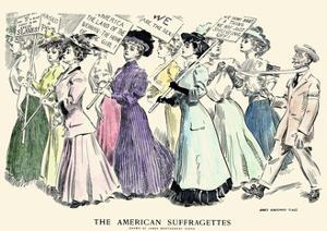 The American Suffragettes by James Montgomery Flagg