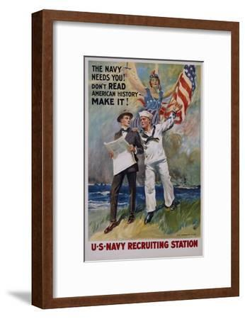 The Navy Needs You! U.S. Navy Recruiting Station Poster