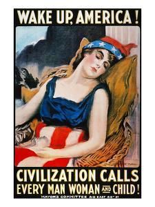 'Wake Up America' Poster by James Montgomery Flagg