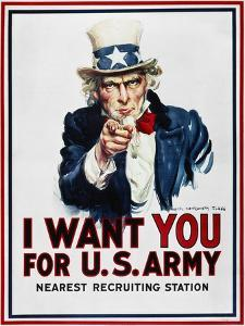 World War I: Uncle Sam by James Montgomery Flagg