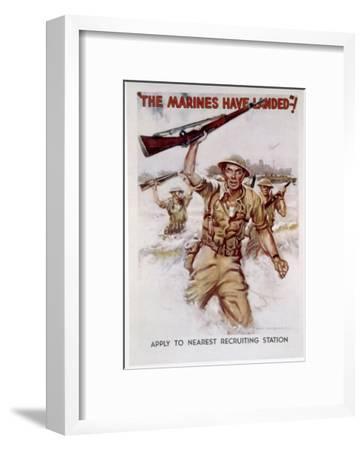 World War II, Marines Recruiting Poster, 1942