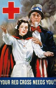 World War Ii: Red Cross by James Montgomery Flagg