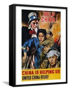 """Wwii Poster: """"Help China"""" by James Montgomery Flagg"""