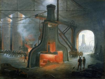 James Nasmyth's Steam Hammer Erected in His Foundry Near Manchester in 1832