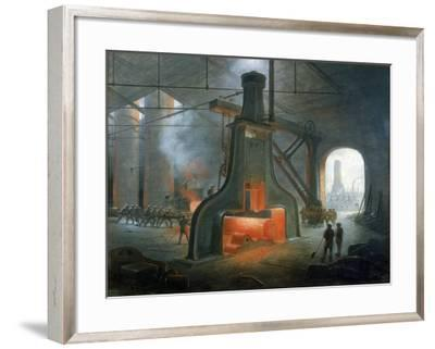 James Nasmyth's Steam Hammer Erected in His Foundry Near Manchester in 1832-James Nasmyth-Framed Giclee Print