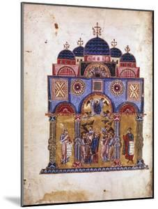 Illustration from Homilies on the Virgin, Byzantine Manuscript, 12th Century by James of Kokkinobaphos