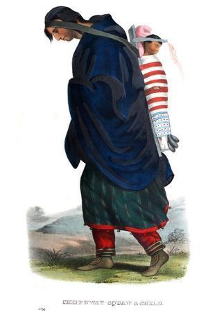 Chippeway (Ojibwe) woman and child