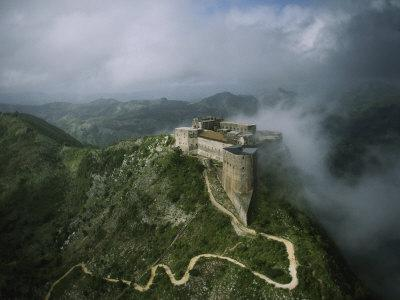Aerial View of La Citadelle Laferriere in Haiti