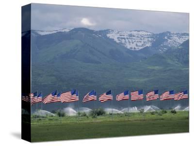 American Flags Honoring Veterans of Foreign Wars Fly on Memorial Day, Utah