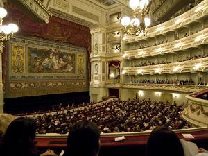 Audience in the Dresden State Opera House, Staatsoper by James P. Blair