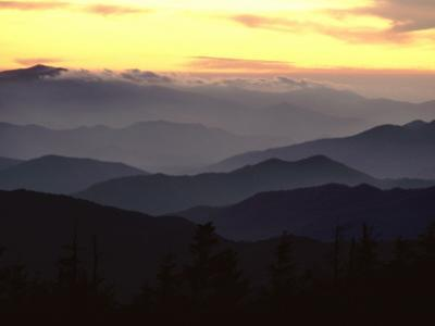 Clingman's Dome Is the Highest Point in Tennessee at 6,643 Feet by James P^ Blair