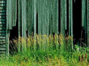 Close View of the Side of a Dilapidated Barn by James P. Blair