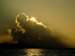 Clouds Hide the Sun over the Delta by James P. Blair