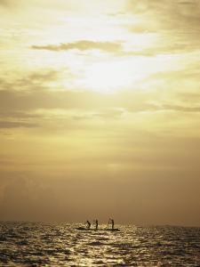 Fishermen at Dawn on Chilka Lake in Orissa, India by James P. Blair