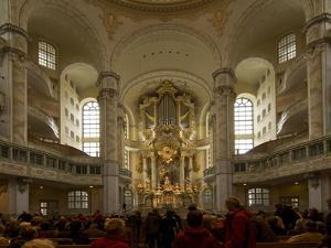 Inside the Luteran Krauenkirche, Church of Our Lady by James P. Blair