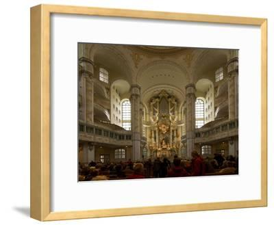 Inside the Luteran Krauenkirche, Church of Our Lady