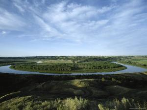 Missouri River, Charles M. Russell National Wildlife Refuge, Montana by James P. Blair