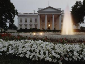 North Side of the White House at Twilight, Washington D.C. by James P. Blair
