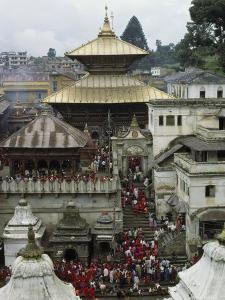 Pashupatinath Temple Near Kathmandu, Nepal by James P. Blair