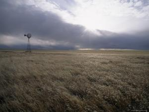 Prairie Land with Windmill, Wyoming by James P. Blair