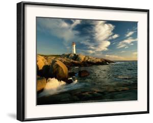 Scenic View of the Rocky Coastline Near Peggys Cove by James P. Blair