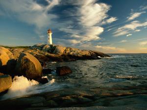 Scenic View of the Rocky Coastline Near Peggys Cove by James P^ Blair