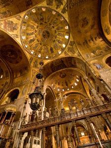 The Gilded Domed Ceilings in the Basilica Di San Marco by James P. Blair