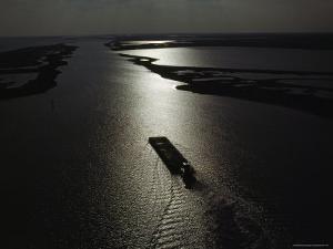 The Gulf Intracoastal Waterway at Sunset, Aransas National Wildlife Refuge, Texas by James P. Blair