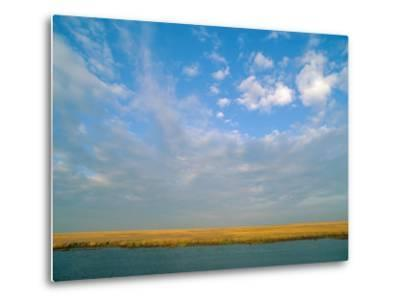 View of the Marsh under a Huge Blue Sky