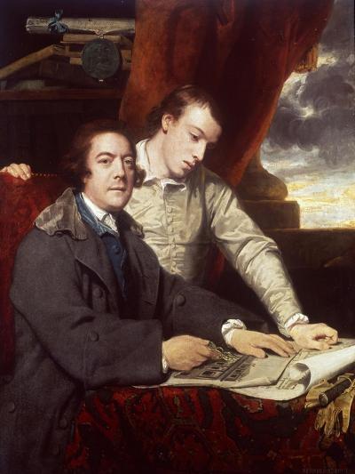 James Paine, Architect and His Son, James, 1764-Sir Joshua Reynolds-Giclee Print