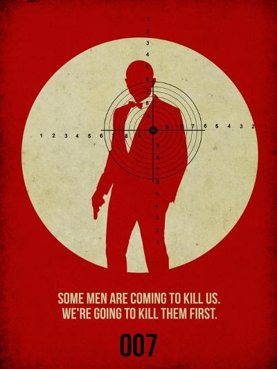 James Poster Red 3-Anna Malkin-Art Print
