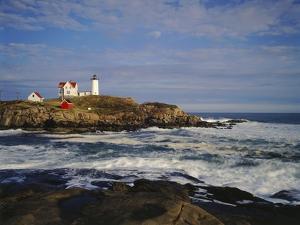 Heavy Surf Near Cape Neddick Lighthouse by James Randklev