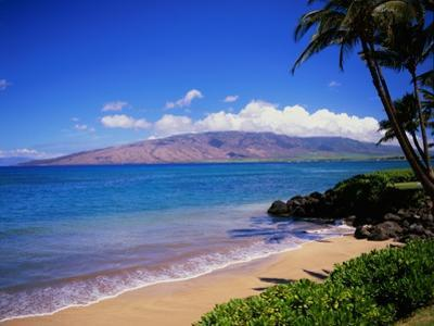 Kihei Beach and West Maui Mountains by James Randklev