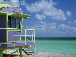 Lifeguard Tower Along South Beach by James Randklev