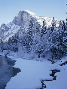Merced River and Half Dome in Winter by James Randklev