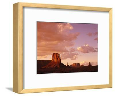 Mitten Buttes at Sunset in Monument Valley Navajo Tribal Park