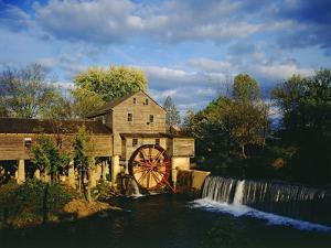 Old Grist Mill by James Randklev