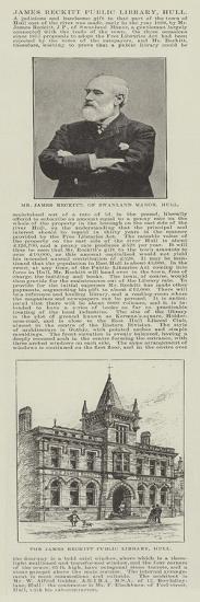 James Reckitt Public Library, Hull--Giclee Print