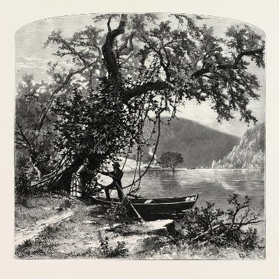 James River, Above Rope Ferry, Virginia, USA-John Douglas Woodward-Giclee Print