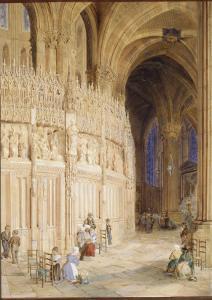 Intérieur de la cathédrale de Chartres by James Roberts