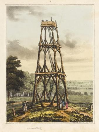 Observatory, from 'An Historical Account of the Battle of Waterloo', 1817 (Coloured Aquatint)