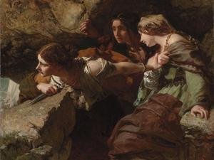 Courage, Anxiety and Despair: Watching the Battle by James Sant
