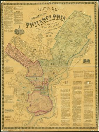Scott's Map of the Consolidated City of Philadelphia, 1856