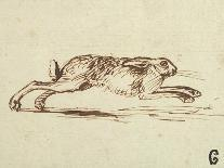 A Hare Running, with Ears Pricked (Pen and Ink on Paper)-James Seymour-Premium Giclee Print