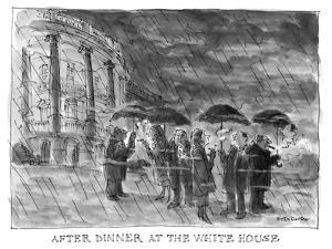 After Dinner at the White House - New Yorker Cartoon by James Stevenson