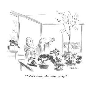 """""""I don't know what went wrong."""" - New Yorker Cartoon by James Stevenson"""