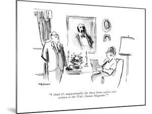 """""""I think it's unquestionably the finest letter you've ever written to the ?"""" - New Yorker Cartoon by James Stevenson"""